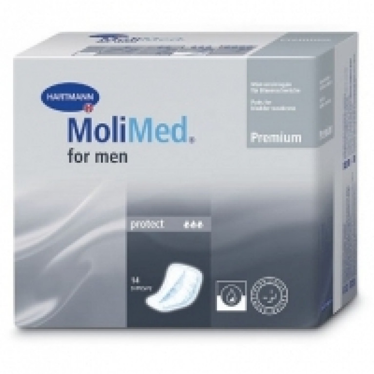 Прокладки ур. МолиМед (MoliMed) Premium protect мужс.стаканчик (3кап) №14