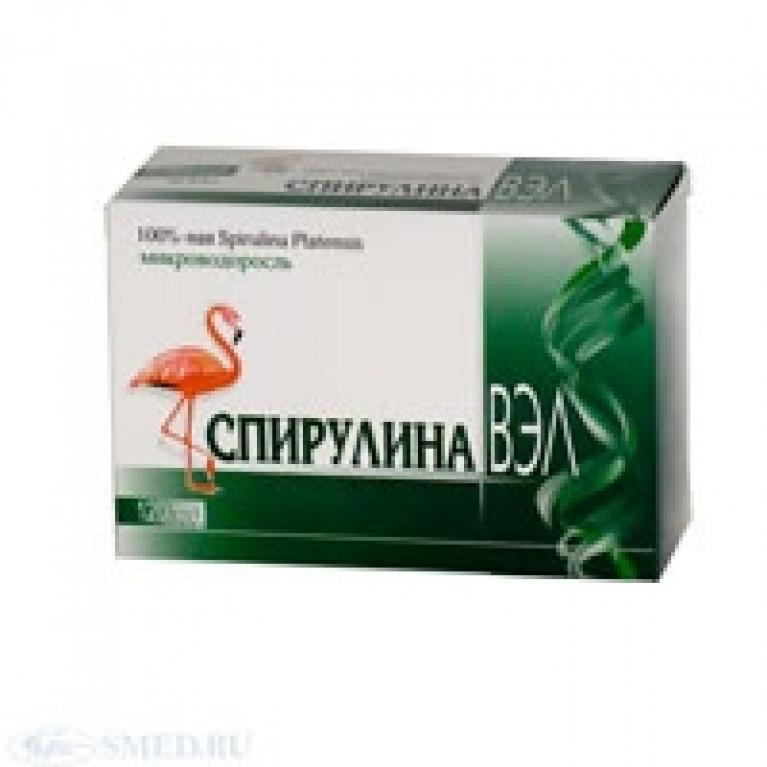 Спирулина ВЭЛ таблетки 500мг №120