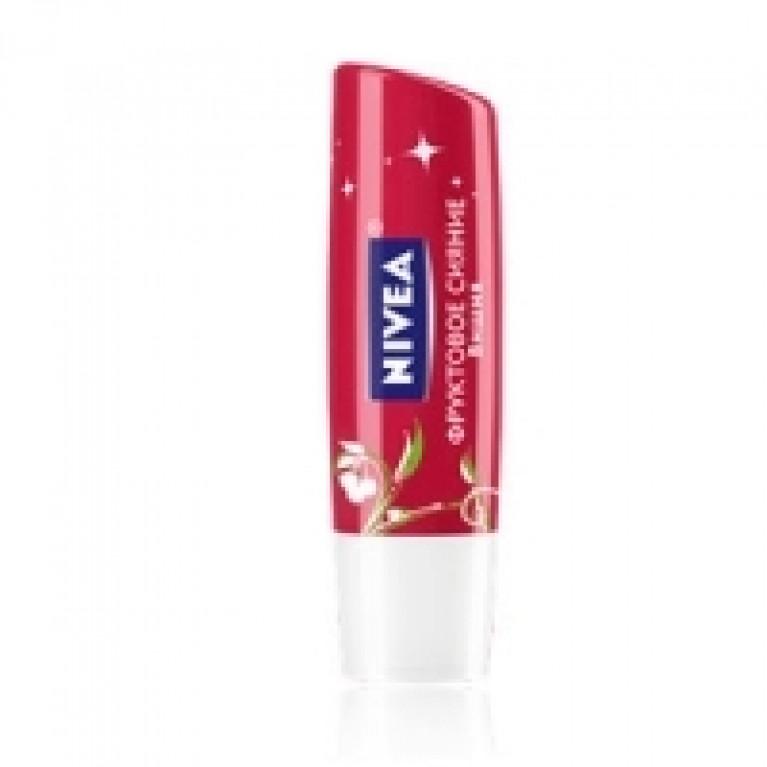 Бальзам д/губ Нивея (Nivea) Фруктовое сияние вишня 4,8г SPF 10