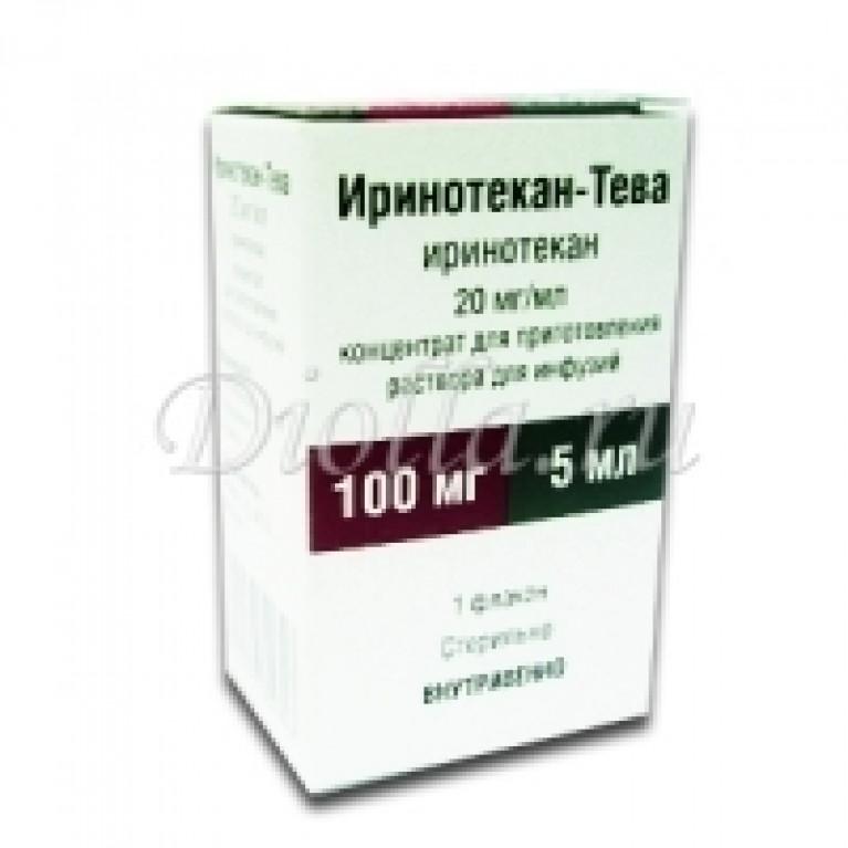 Иринотекан-Тева конц. д/инф. 20 мг/мл 5мл.фл.№1