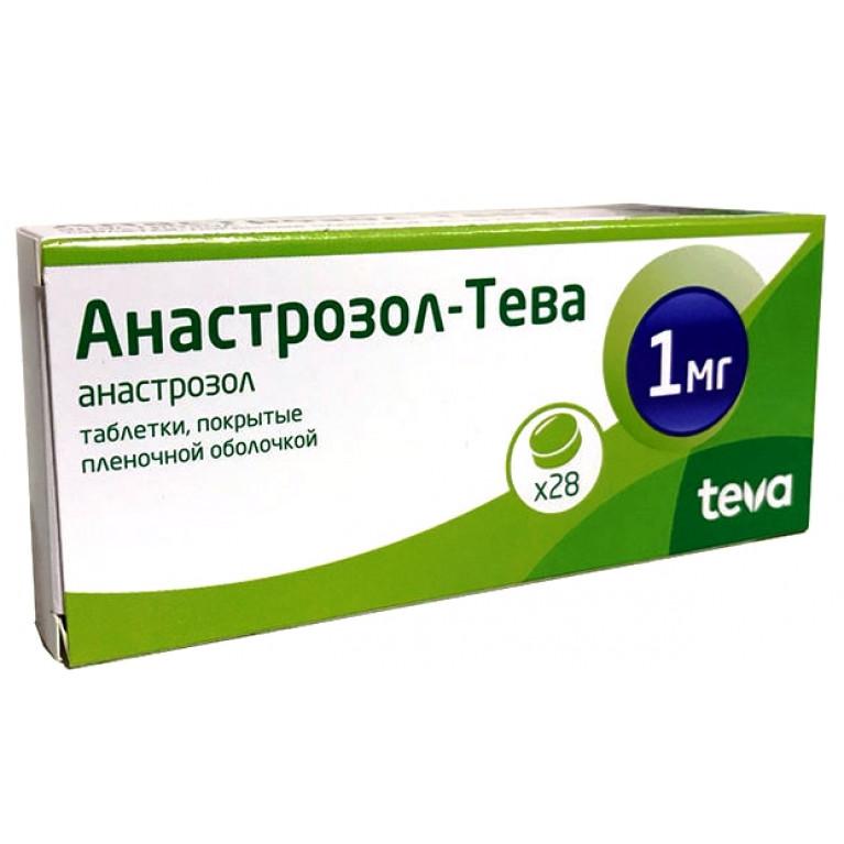 Анастрозол-Тева таблетки, покрытые пленочной оболочкой 1 мг №28