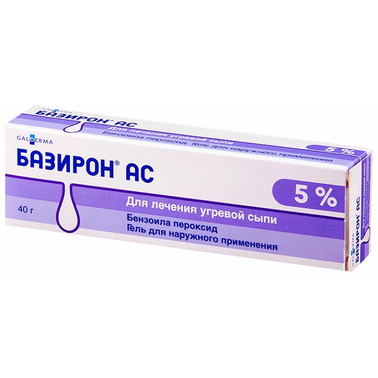 Базирон АС гель для наружного применения 5% туба 40 г