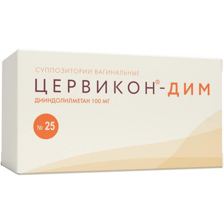Цервикон-Дим супп. ваг. 100 мг №25