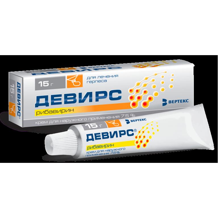 Девирс крем для наружного применения 7,5% туба 15г