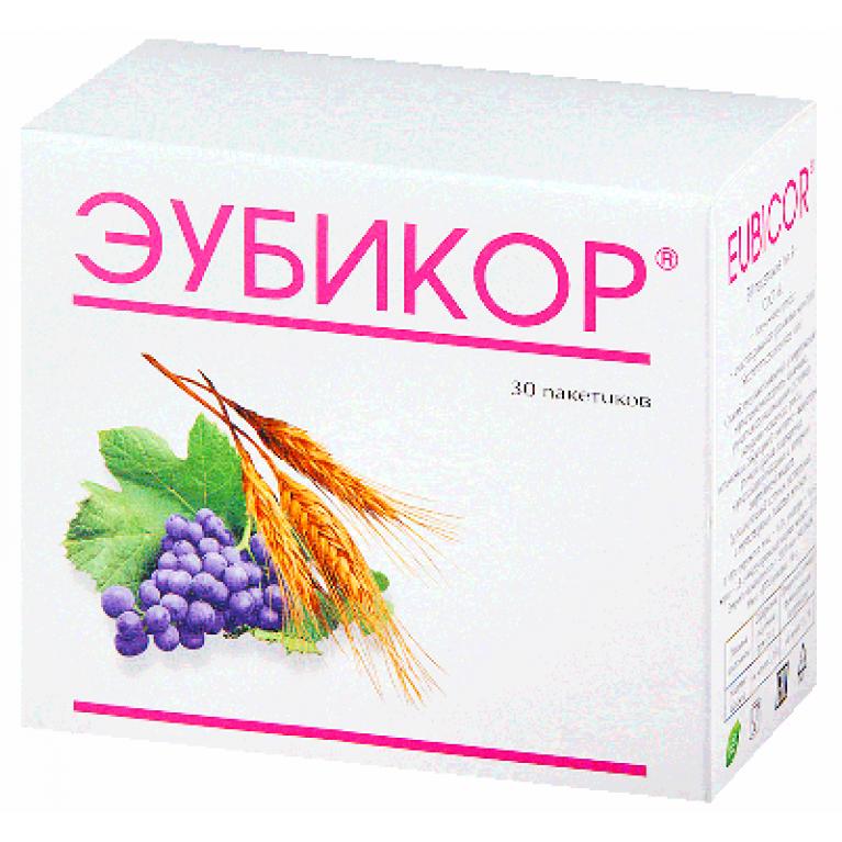 Эубикор порошок в пакетиках по 3,0 г №30 (при гастро-дуоденитах)
