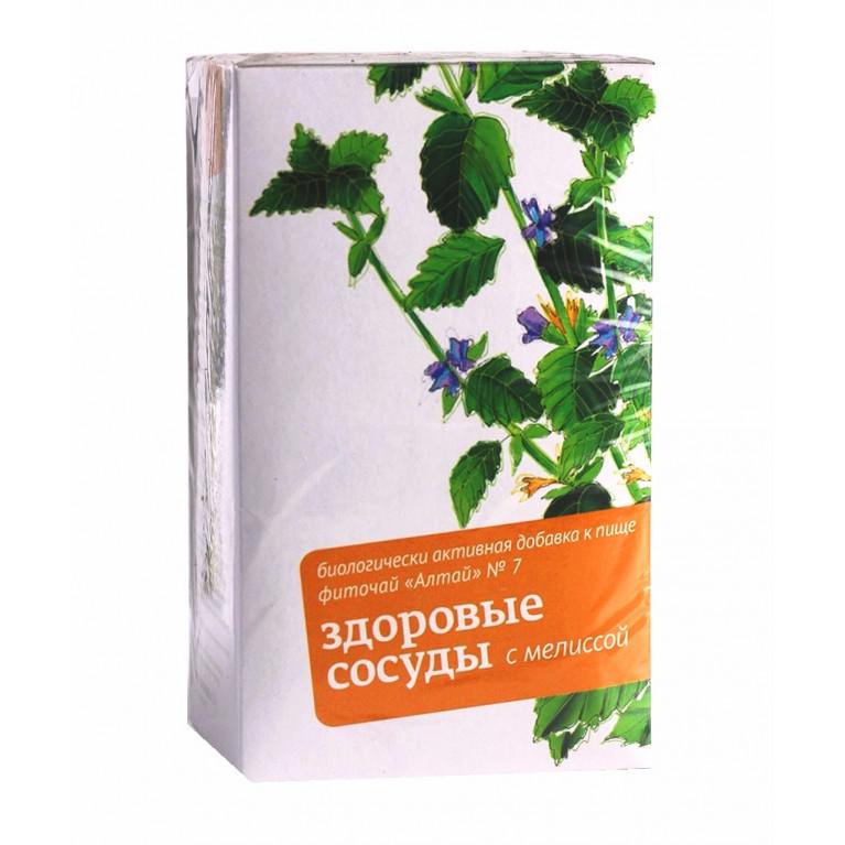 Фиточай Алтай №7 Здоровые сосуды с мелиссой фильтр-пакеты 2 г №20