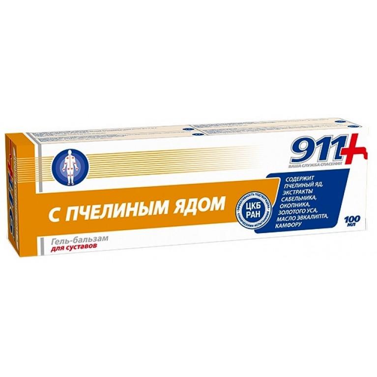 911 С пчелиным ядом Гель-бальзам д/тела туба 100 мл