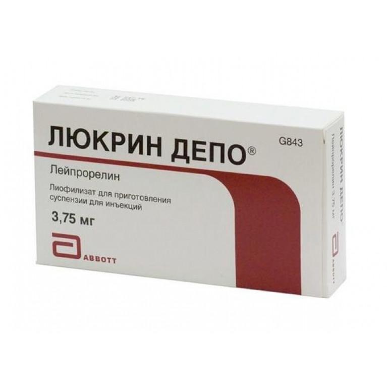 Люкрин Депо лиоф.3,75мг+р-ль 2мл №1+салфет.,шприц,иглы
