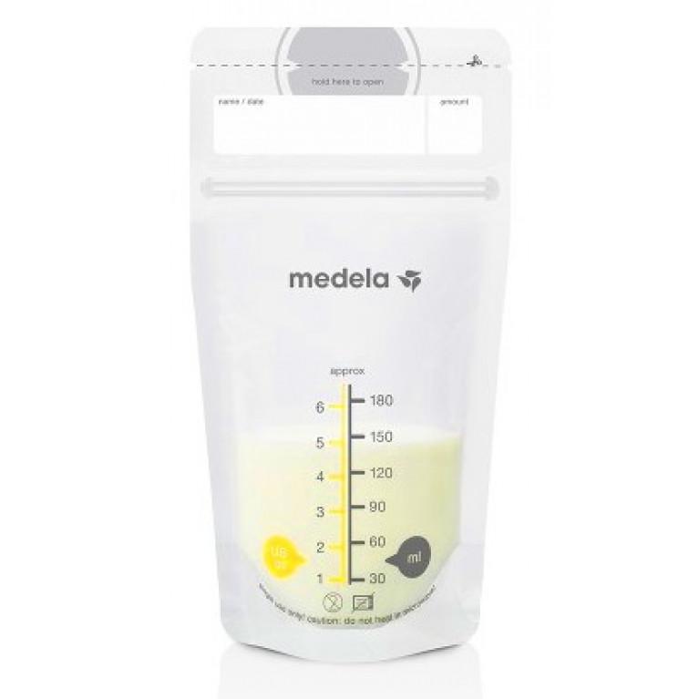 Пакеты Медела ( Medela ) для хранения грудного молока одноразовые полимерные 180 мл №25