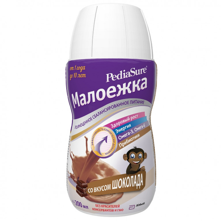 Педиашур (PediaSure) Малоежка Шоколад 200 мл (от 1 года до 10 лет)