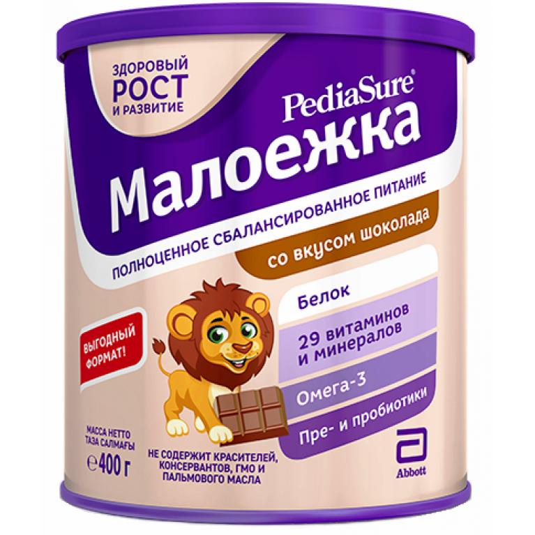 Педиашур (PediaSure) Малоежка Шоколад сухая сбалансированная смесь для детей 400 мл (от 1 года до 10 лет)