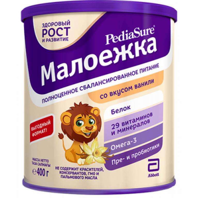 Педиашур (PediaSure) Малоежка Ваниль сухая сбалансированная смесь для детей 400 мл (от 1 года до 10 лет)