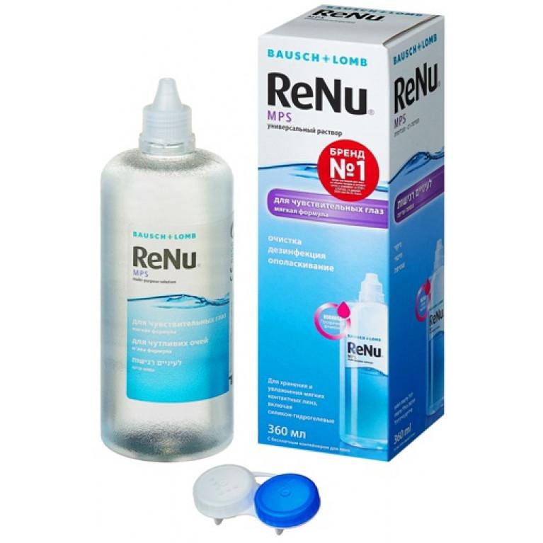 Реню МПС (ReNu MPS) Раствор для линз универсальный фл. 360 мл (для чувствительных глаз)