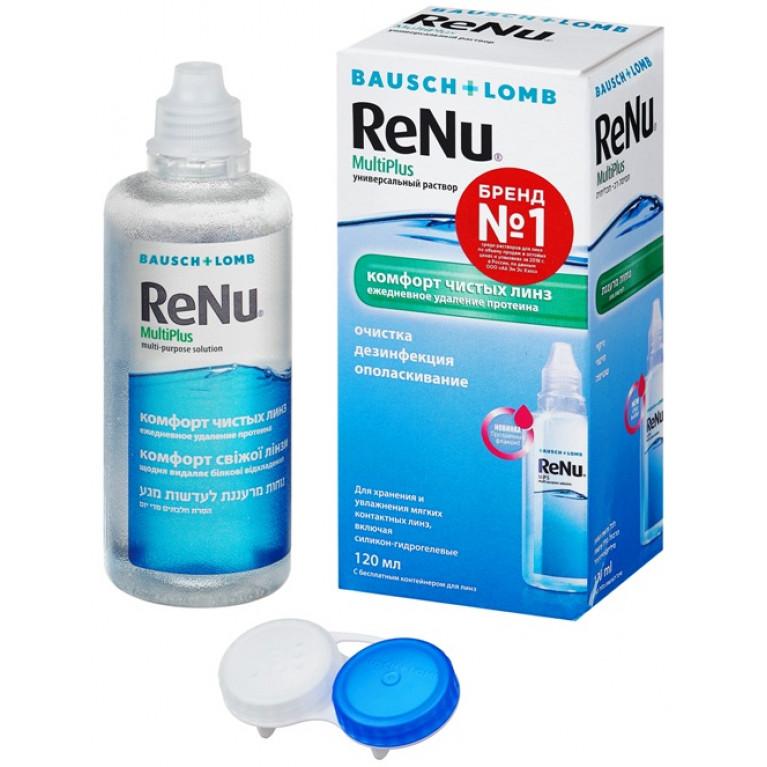 Реню Мультиплюс (ReNu MultiPlus) Раствор для линз универсальный фл. 120 мл (комфорт чистых линз)