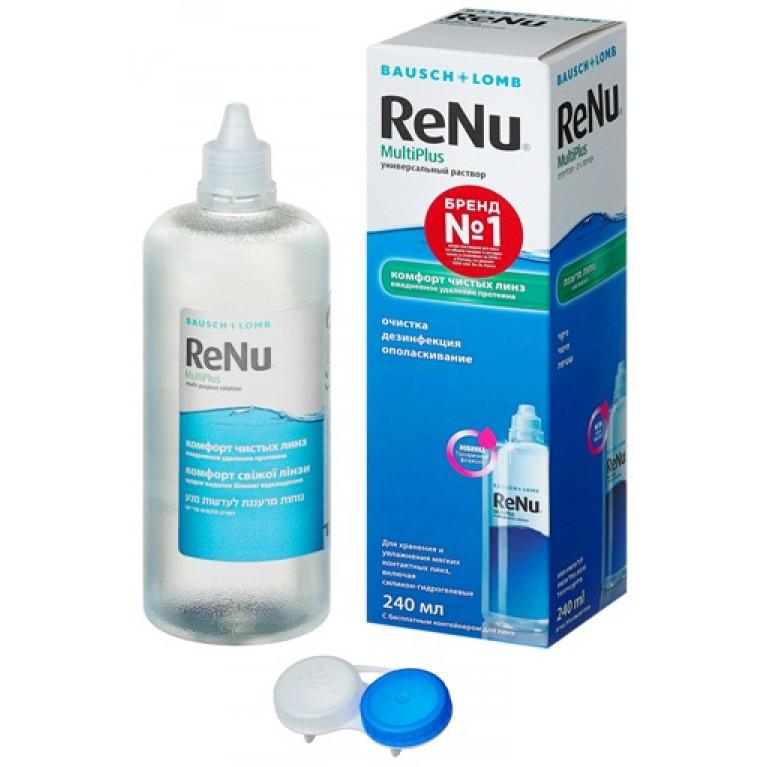 Реню Мультиплюс (ReNu MultiPlus) Раствор для линз универсальный фл. 240 мл (комфорт чистых линз)