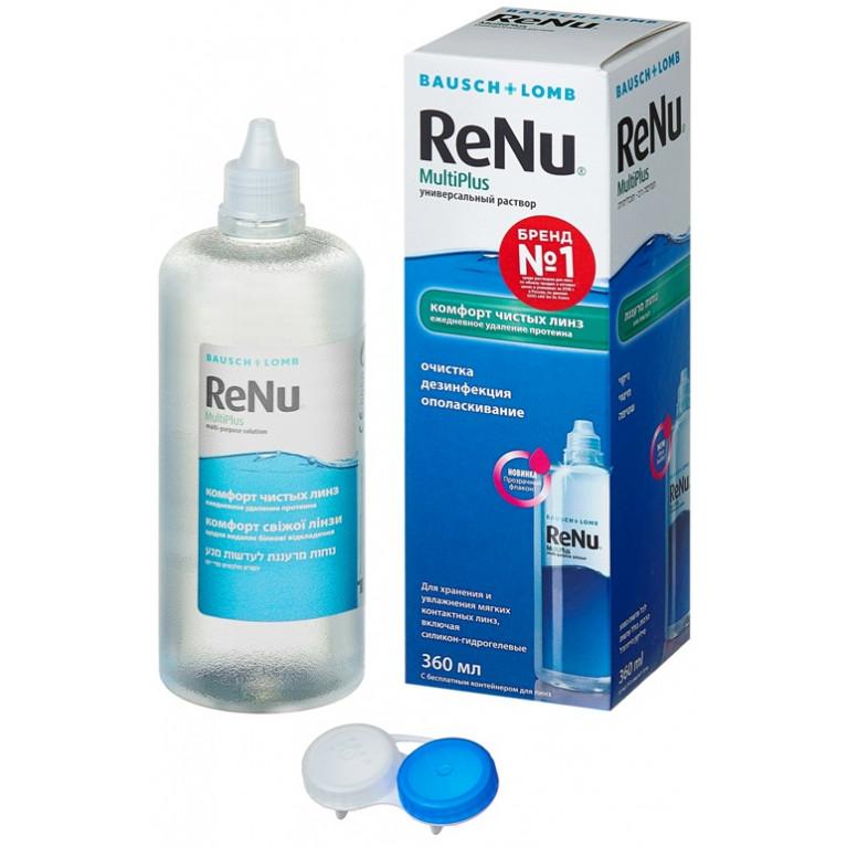 Реню Мультиплюс (ReNu MultiPlus) Раствор для линз универсальный фл. 360 мл (комфорт чистых линз)