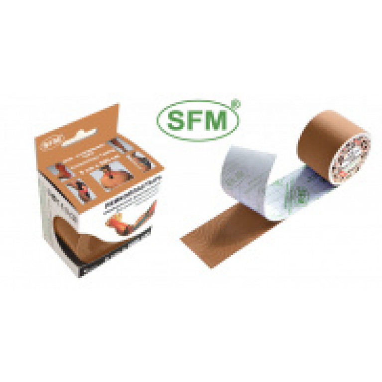 SFM-PLASTER Лента кинезиологическая (кинезио тейп) на хлопковой основе в рулоне 2,5 смх500 см №1 оранжевый