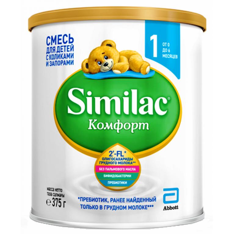 Смесь молочная Similac ( Симилак ) Комфорт-1 375г ( от 0 мес. до 6 мес. )
