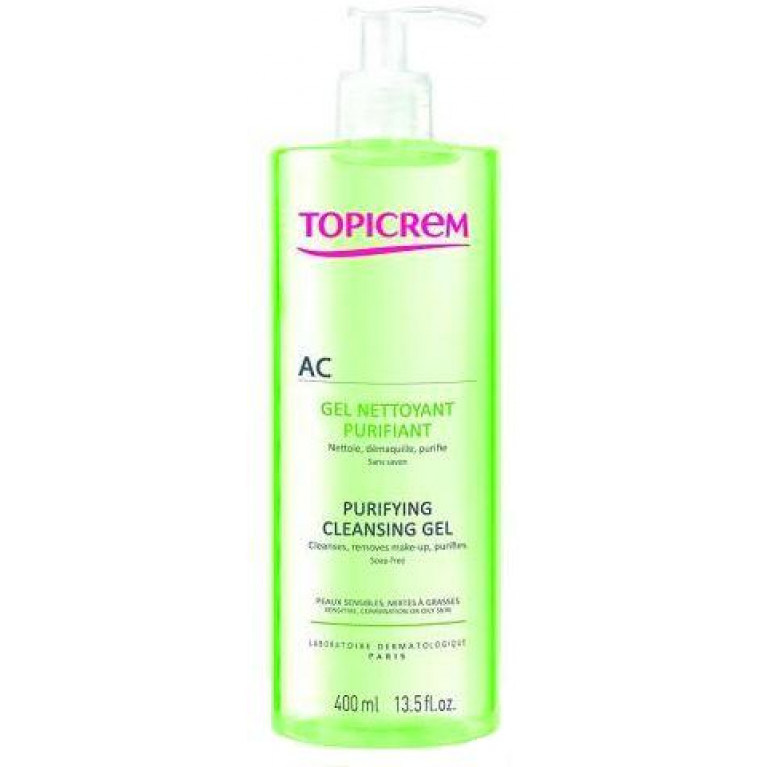 Топикрем (Topicrem) АК Гель очищающий оздоравливающий для лица и шеи 400мл