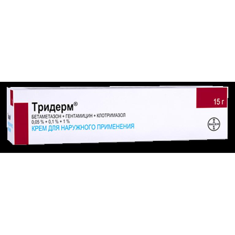 Тридерм крем для наружного применения 0,05% + 0,1% + 1% туба 15 г